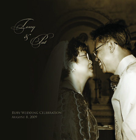 Click to preview Tony and Pat Espejo's Ruby Wedding Celebration photo book