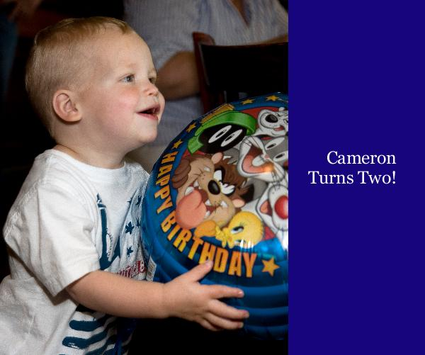 Click to preview Cameron Turns Two! photo book