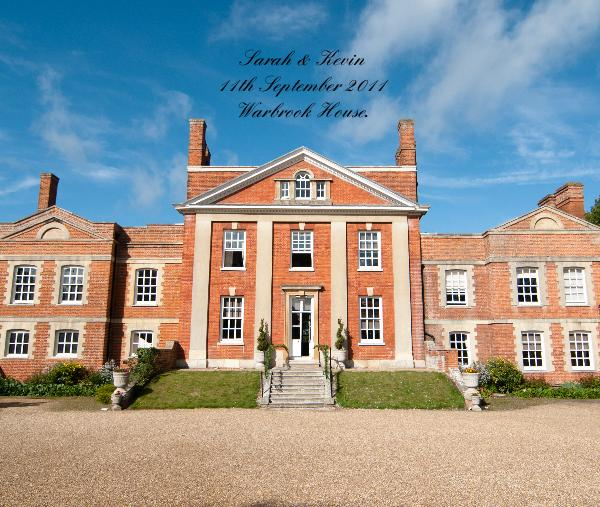 Click to preview Sarah & Kevin 11th September 2011 Warbrook House. photo book