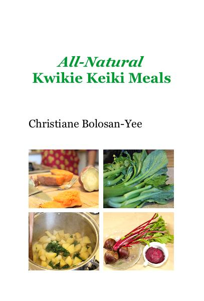Click to zoom All-Natural Kwikie Keiki Meals pocket and trade book cover