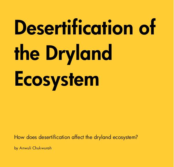 Ver Desertification of the Dryland Ecosystem por Anwuli Chukwurah