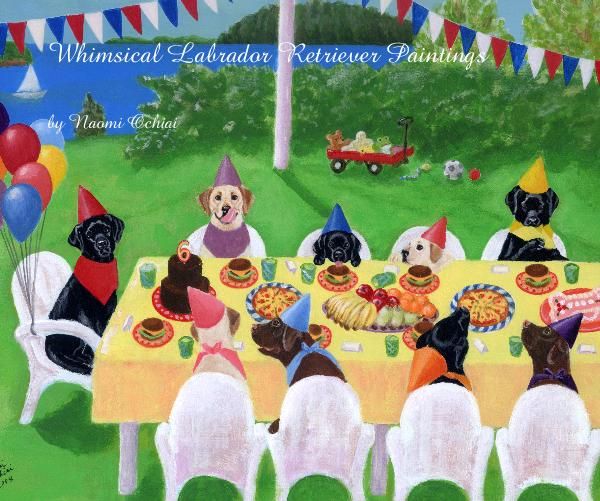 View Whimsical Labrador Retriever Paintings by Naomi Ochiai