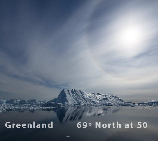 Ver Greenland - 69 Degrees North at 50 por Tony Skerl