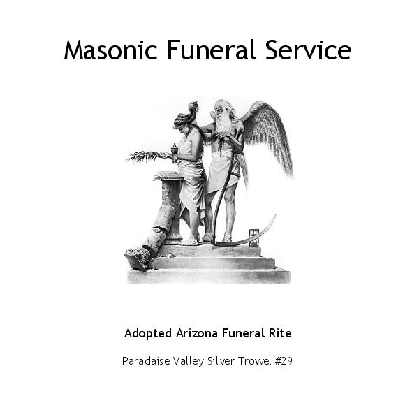 Click to zoom Masonic Funeral Service photo book cover
