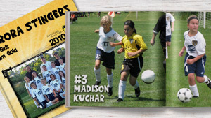 Aurora Stingers U10 Girls Team Gold Sports Yearbook